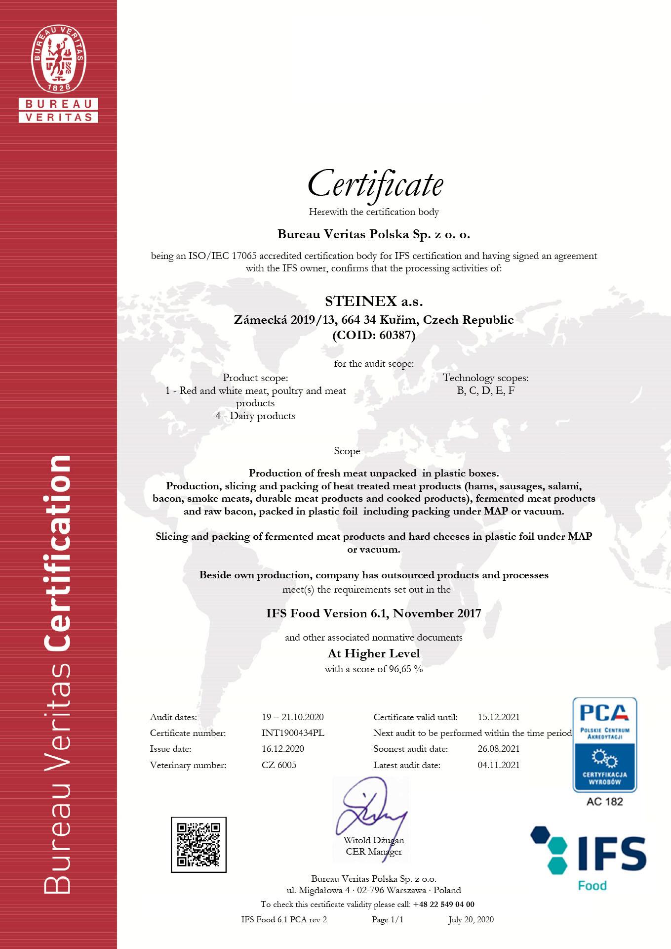 Draft_Certificate IFS STEINEX